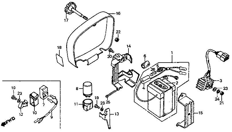 honda cb250 wiring diagram