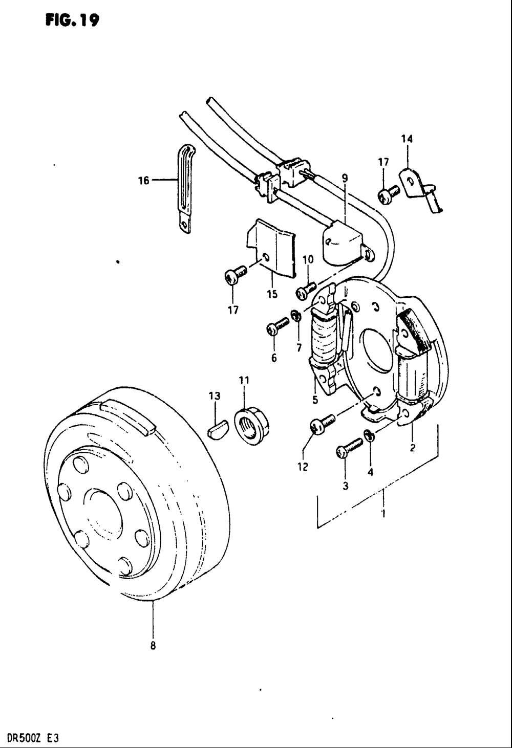 Dr500 1981 1982 Originln Nhradn Dly Suzuki Parts Depot Dr 500 Wiring Diagram Model